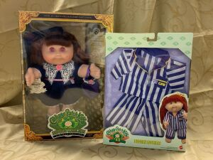 Cabbage Patch Kids Keepsake Collection Limited Edition doll and a CPK bedtime fashion outfit  **Eyes discolored due to storage**