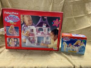 Fisher Price Once Upon A Dream Palace and Royal Pony & Carriage