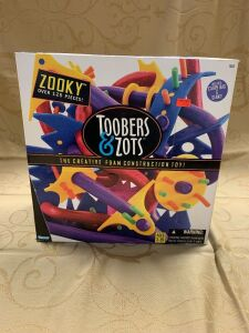 Toobers & Zots creative foam construction toys with carry bag and stand