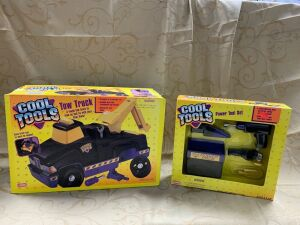 Playskool Cool Toys tow truck and power tool set