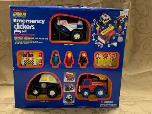 Supertoys Haulers Emergency Clickers play set Super Friction Powered Emergency Vehicles