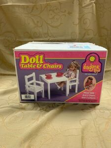 Badger Toys Doll Table and Chairs
