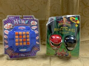 Power Rangers Handheld Walkie Talkies and Henry match the sounds memory game