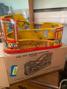 J Chein & Co Number 275 roller coaster with box