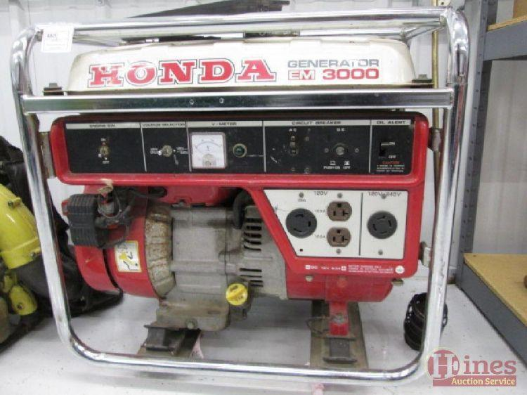 honda em 3000 generator 120 240v current price 195. Black Bedroom Furniture Sets. Home Design Ideas