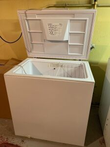Amana chest freezer measures 32 x 22 x 25
