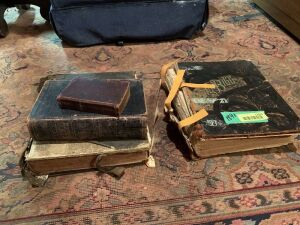 Four antique Bibles-two dated 1891, 1895 and no year found on the other  Two are in very delicate condition