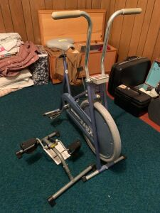 Healthmaster 210 Roadmaster exercise bike and Golds Gym upper and lower body cycle