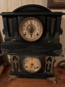 One Sessions and one Ingram Clock Company mantle clocks  Both with keys
