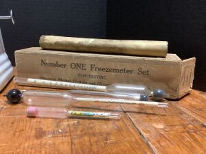 Torsion Balance Co. No. 1500 scale and a Number ONE Freezemeter set