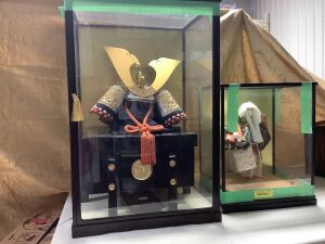 Kyugetsu Doll  in display case Made in Japan