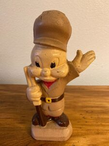 Cast iron Elmer Fudd bank