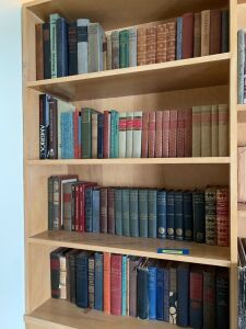Four shelves of vintage books-see photos for titles