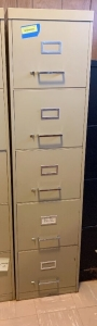 Five drawer letter file cabinet measures 15 x 28 x 60