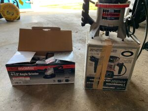 Craftsman 1hp router and Drillmaster 4 1/2 inch angle grinder NIB