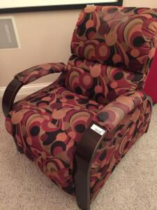 Patterned reclining chair