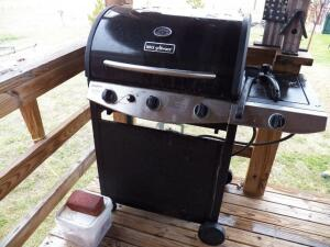 Gas Grill, Yard Swing, Bird Houses