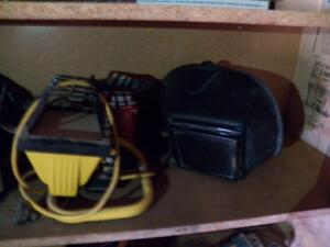 Welding Helmet & Shop Light