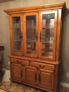 Ashley Lighted China Cabinet Hutch