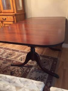 Vintage Duncan Phfye Dining Table & Chairs