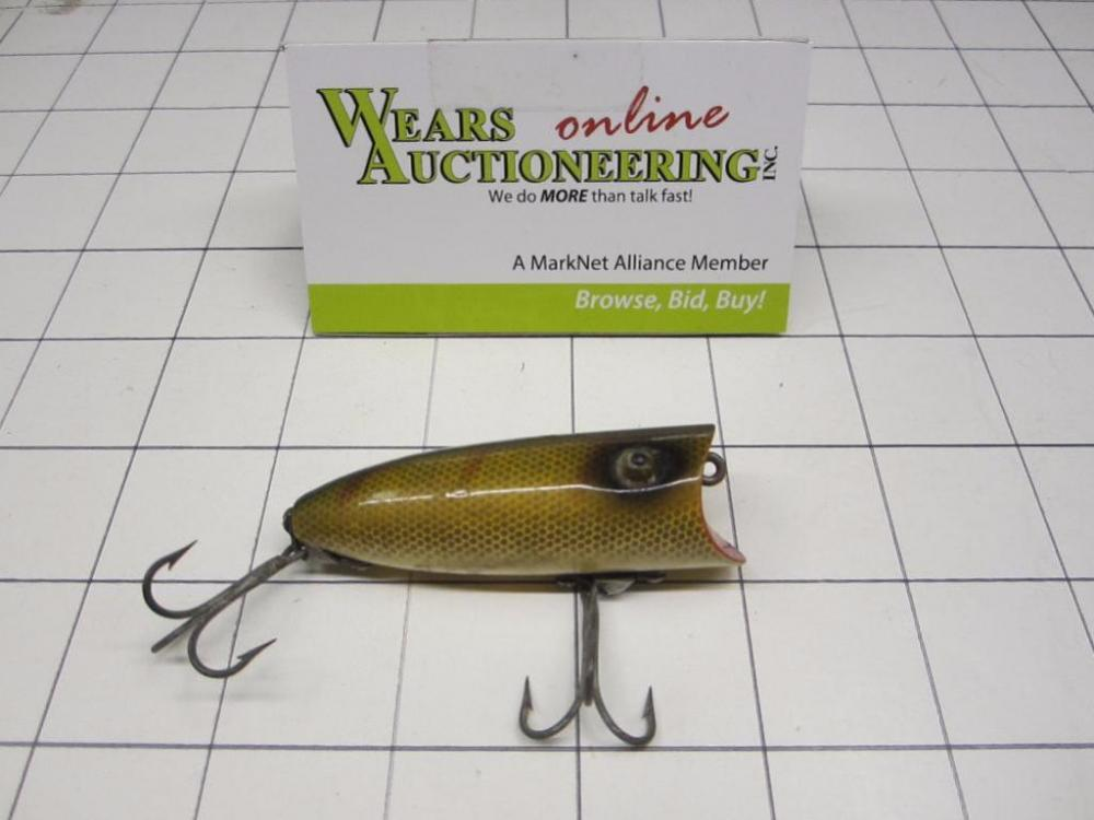 Heddon Baby Lucky 13 Double Treble Hook Wooden Lure Current Price 5
