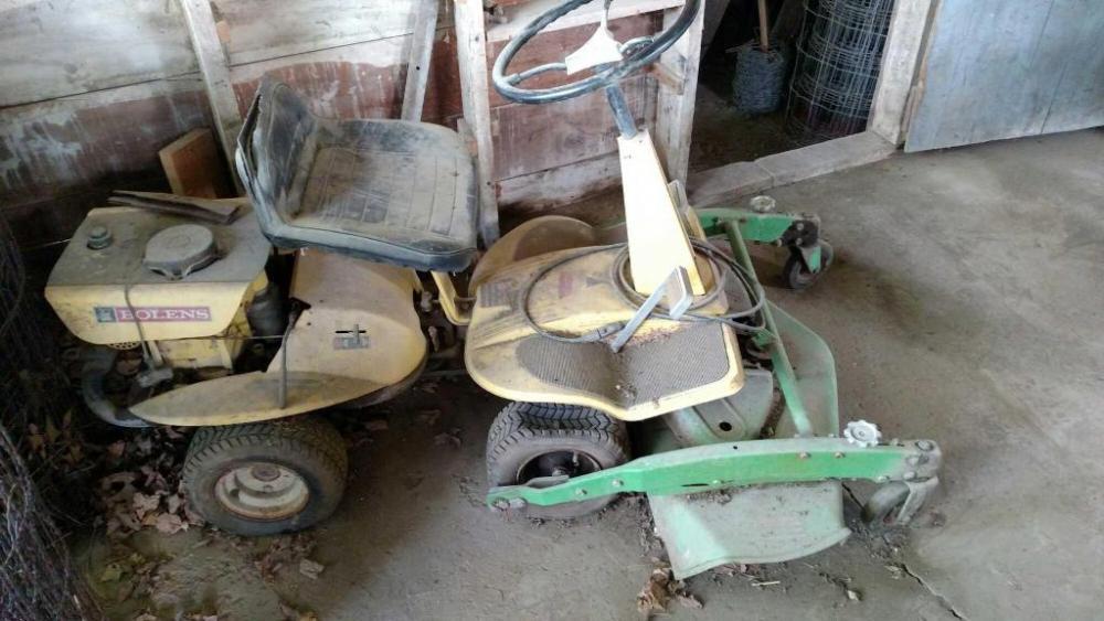 Old Bolens front deck lawn mower model lawn keeper