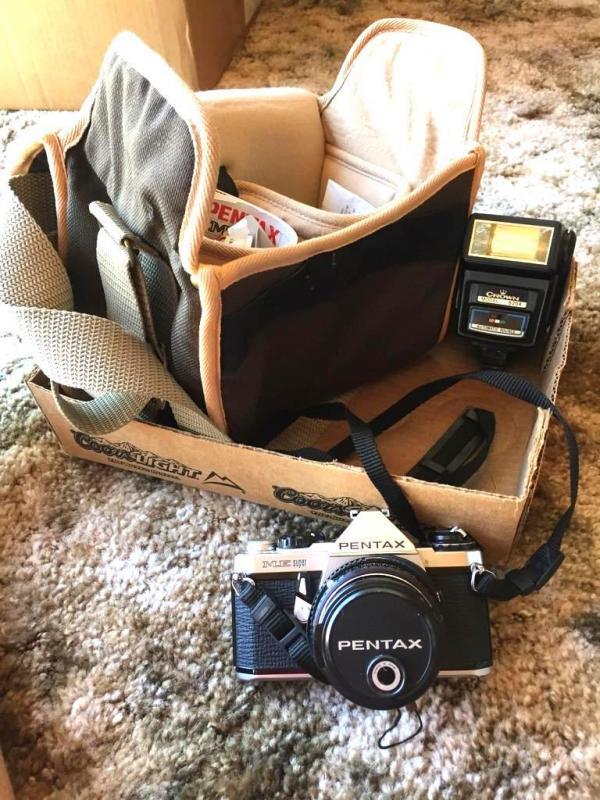 Pentax ME Super Camera with Crown 620A flash & case