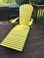 Poly Yellow and Black chaise lounger.