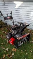 Snow devil 30-inch walk-behind snowblower with six and a half horsepower engine