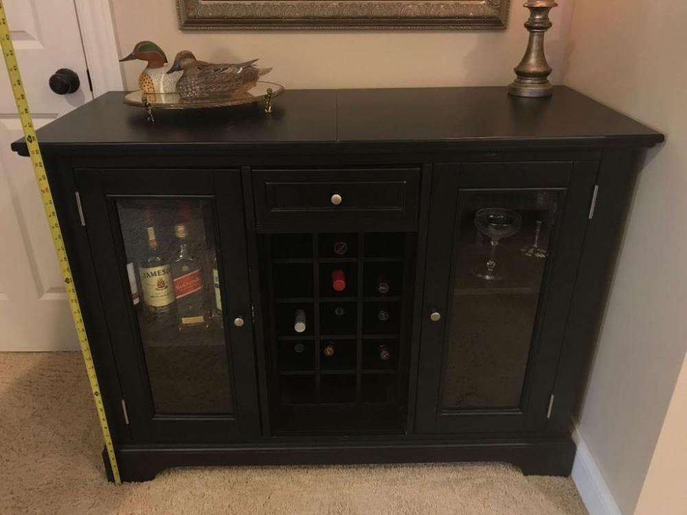 black liquor cabinet - Make Your Small Living Room Chic ...