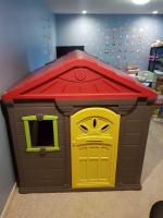 Indoor playhouse. Has never been outside. 54 x 46 x 57 missing doorknob due to kids locking themselves in