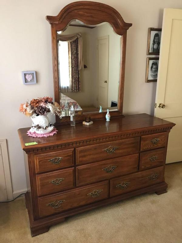 Sumter cabinet company triple dresser with mirror