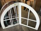Double wooden window frame with piano hinge - great decorator piece!
