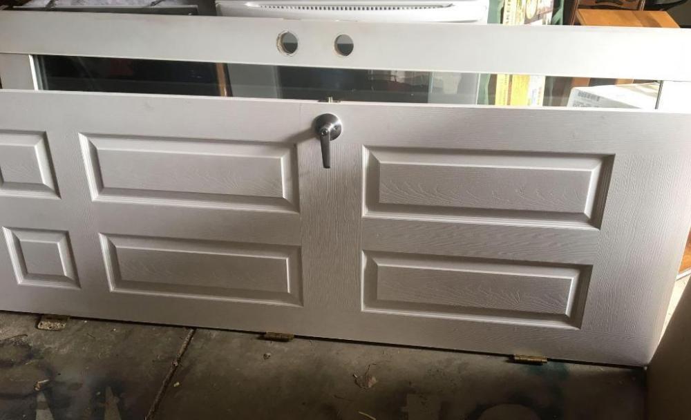 Lot 91 of 294 Interior door-28x80; glass exterior door 34x77.5 & Interior door-28x80; glass exterior door 34x77.5
