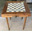 Marble Inlaid chess table 22 x 22 x 24