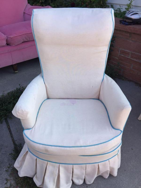 Groovy White With Blue Trim Side Chair Stained Uwap Interior Chair Design Uwaporg