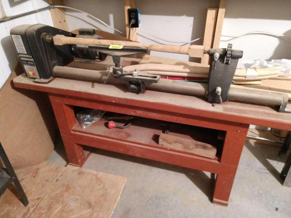 Sensational Sears Craftsman 12 Inch Wood Lathe With Bench Motor And Machost Co Dining Chair Design Ideas Machostcouk