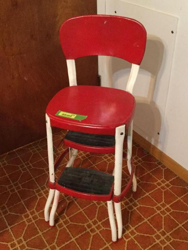 Cool Vintage Red And White Costco Step Stool Seat Ncnpc Chair Design For Home Ncnpcorg