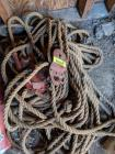 Block and tackle with hay rope