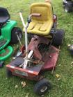 Moz-All Hull Industries eight horse power 30 inch cut riding lawnmower unknown working condition