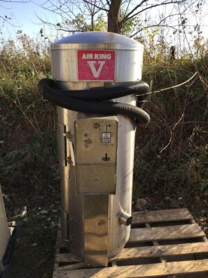 Air King V Industrial vacuum cleaner - working condition when removed from service