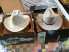 His and hers cowboy hats With original boxes - Resistol ladies size 5 men's Stetson size 7