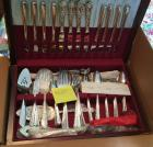 "Holmes and Edward ""May Queen"" pattern silverware set complete - new in box"