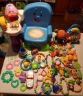 Fisher-Price Laugh & Learn musical learning chair variety of teethers and infant toys and Fisher-Price jukebox