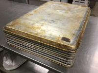 "17 1/2 x 24 1/2"" flat sheet pans Total of 10"