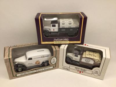 3 Ertl diecast banks all in original packaging